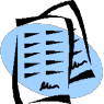 electronic reserves - icon depicting two papers stacked on top of one another
